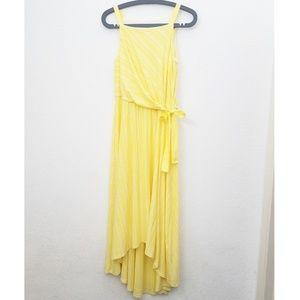 Maeve Yellow & White Striped Maxi Dress